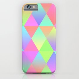 Colorful Geometric Pattern Prism Holographic Foil Triangle Texture iPhone Case