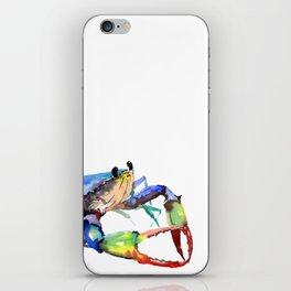 Crab, Sea World Rainbow Colors Beach iPhone Skin
