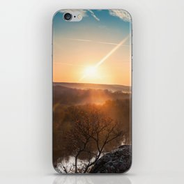 mountain autumn landscape with Southern Bug river iPhone Skin
