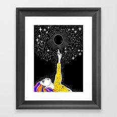 luna nueva Framed Art Print