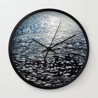 ombre Wall Clocks featuring Ombre by Amy Muir