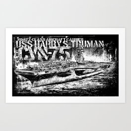 CVN-75 Harry S. Truman Art Print