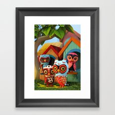 Owl City Framed Art Print