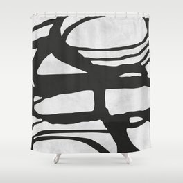 Expressionist lines II Shower Curtain