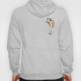 Ostrich in a Coonskin Hat Hoody
