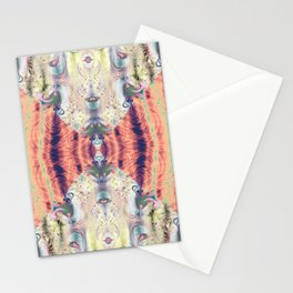 Copper Pastel Menagerie Fractal Abstract Stationery Cards