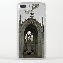 The Grey Grandeur Clear iPhone Case