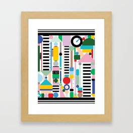 Postmodern Cityscape Framed Art Print