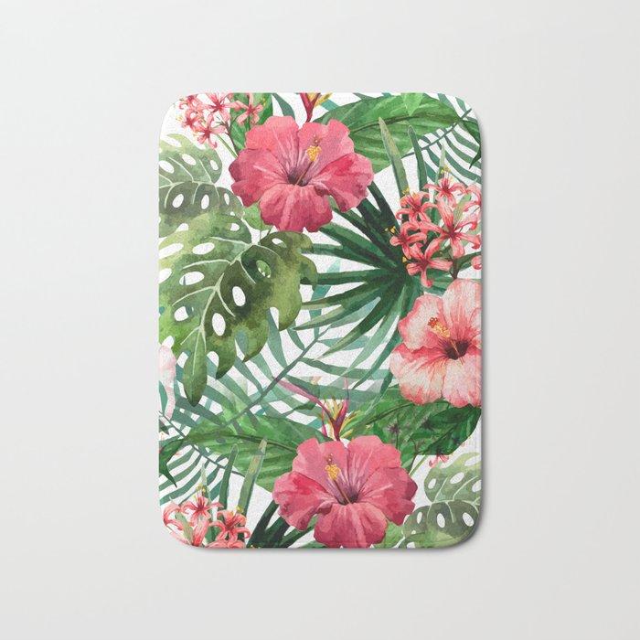 Tropical floral 6 Bath Mat
