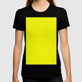 Brightest Yellow Solid Color Plain Simple Lemon T-shirt