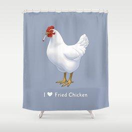 Funny Fried Chicken Pot Smoking White Hen Shower Curtain