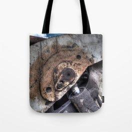 Machine Rust Hydraulic Ram Tote Bag