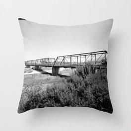 Salinas River Bridge, Monterey County, California Throw Pillow