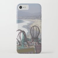 santa monica iPhone & iPod Cases featuring Santa Monica by Liv Cartmill