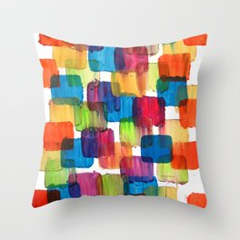 Colorful Bubblewrap POSTER Watercolor ART ABSTRACT Print by Robert R Splashy ART Throw Pillow