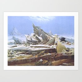 The Sea of Ice - Caspar David Friedrich Art Print