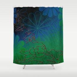Yoga Girl Shower Curtain