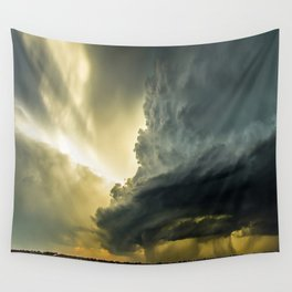 Supercell - Massive Storm Over the Great Plains Wall Tapestry