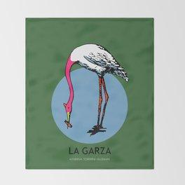 La Garza Mexican Loteria Card Throw Blanket