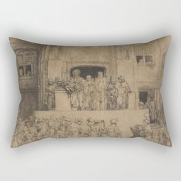Rembrandt - Christ Presented to the People (1655) Rectangular Pillow