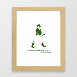 Johnnie Walter White Framed Art Print