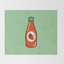 Cute yummy hot sauce Throw Blanket