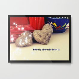 Heart shaped rock Metal Print