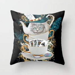 Alice in Wonderland Cheshire Cat Throw Pillow