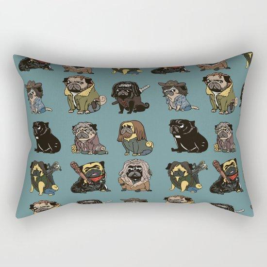 The Walking Pug Rectangular Pillow