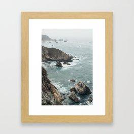No Swimming Framed Art Print