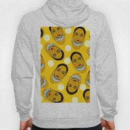 Yellow Ms. Adu Pattern Lover's Rock Hoody