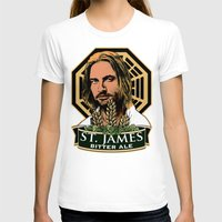 ale giorgini T-shirts featuring St. James Bitter Ale by Ant Atomic