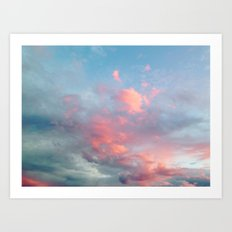 Cotton Candy Sky Art Print