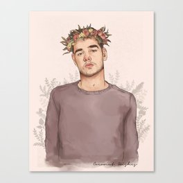 Flower crown Liam Canvas Print