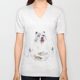 their life is not wild! Unisex V-Neck