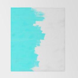 Shiny Turquoise balance Throw Blanket