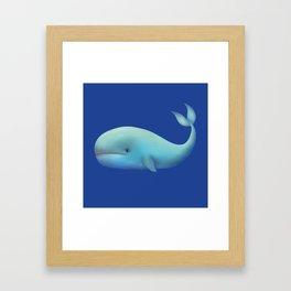 WHALE TOTEM Framed Art Print