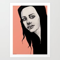 lip Art Prints featuring Lip Ring by fossilized