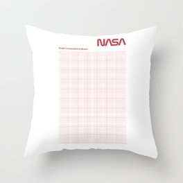 Red Graph Paper Throw Pillow