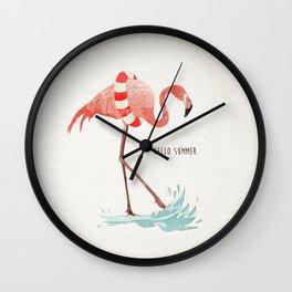 Flamingo - Hello Summer Wall Clock