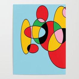 Circulos mult color Poster