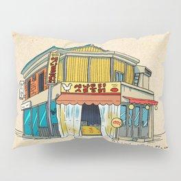 Urban Minhwa: Local Chicken Place A Type (Korean traditional/folk art) Pillow Sham