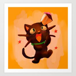 Choco Cat Art Print