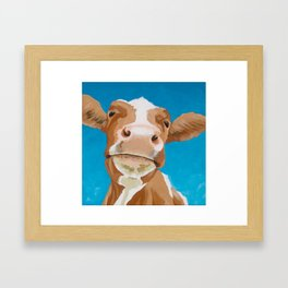 Enid the Contented Cow Framed Art Print