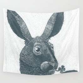 lepus cum clover Wall Tapestry