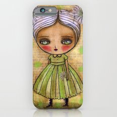 Dandelion Girl in Yellow And Green iPhone 6s Slim Case