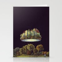 castle in the sky Stationery Cards featuring Castle by Matthias Leutwyler