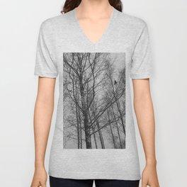 Lonely Crow Woods Unisex V-Neck
