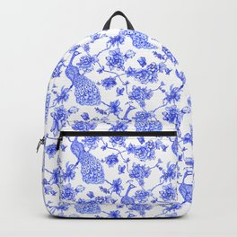 Chinoiserie Peacock Backpack