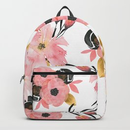 Night Meadow on White Backpack